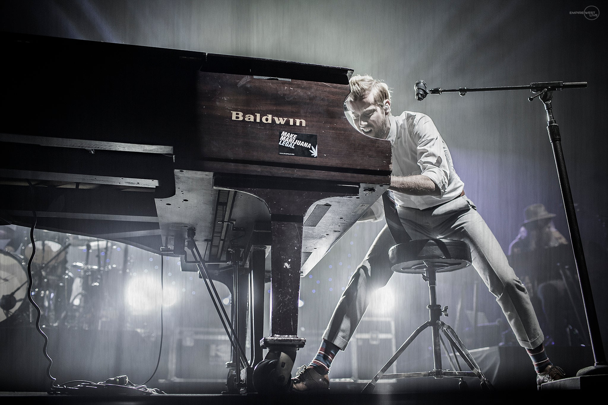 Andrew McMahon In The Wilderness playing at The Main Street Armory Rochester NY.Rochester Music Photography.