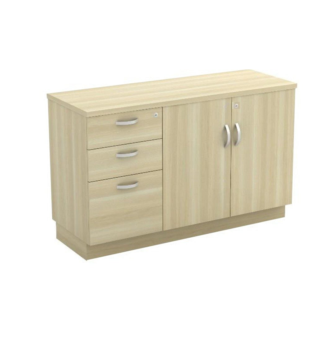 Wooden Cabinet – 2D1F with Swing Door Cabinet
