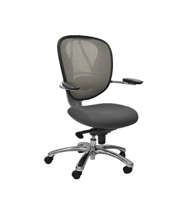 Mid Back Mesh Office Chair 0199A Grey