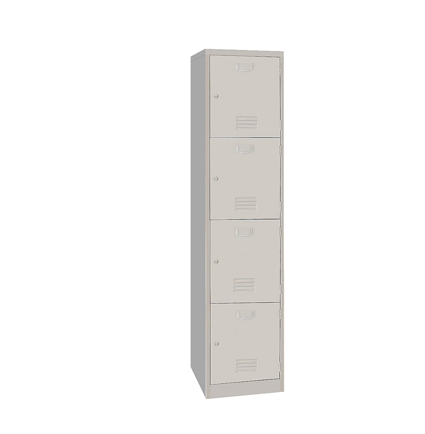 Four Compartments Metal Locker