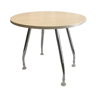 Round Discussion Table With Chrome Mono Legs Base