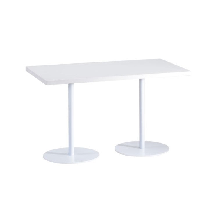 Low Collaborative Table With White Metal Base