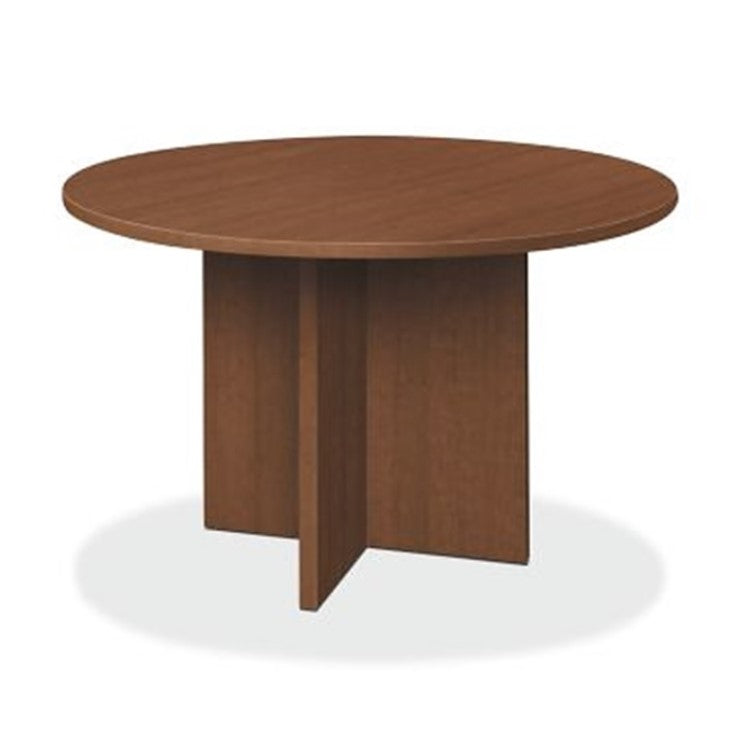 Round Discussion Table With Wooden Base