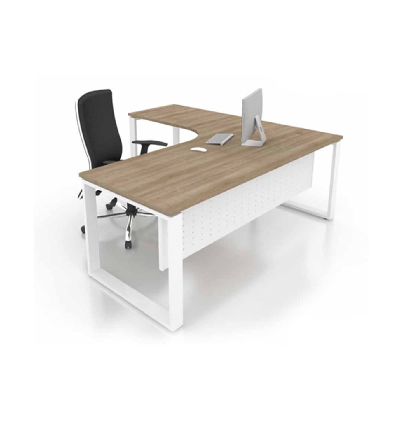 Executive Table With Metal Perfetto Leg