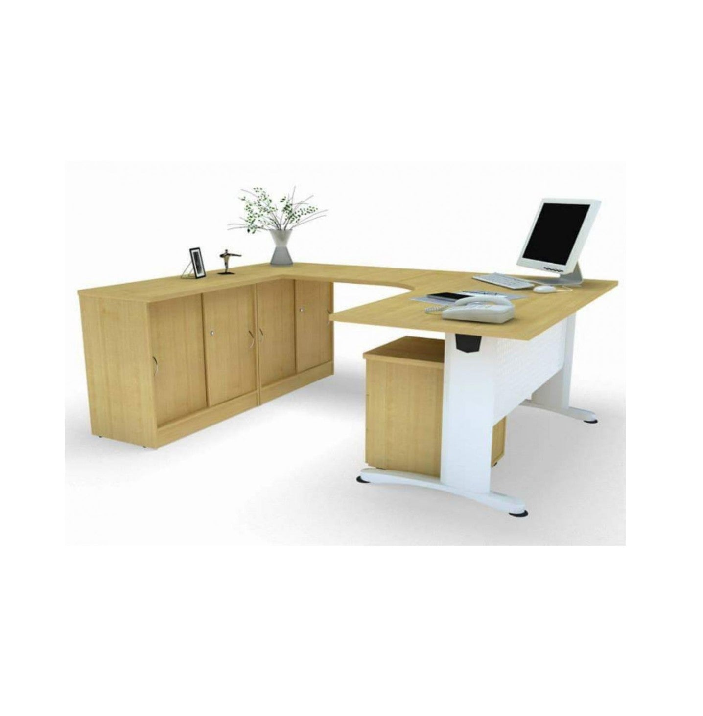 Executive Table With Metal Dotta Leg