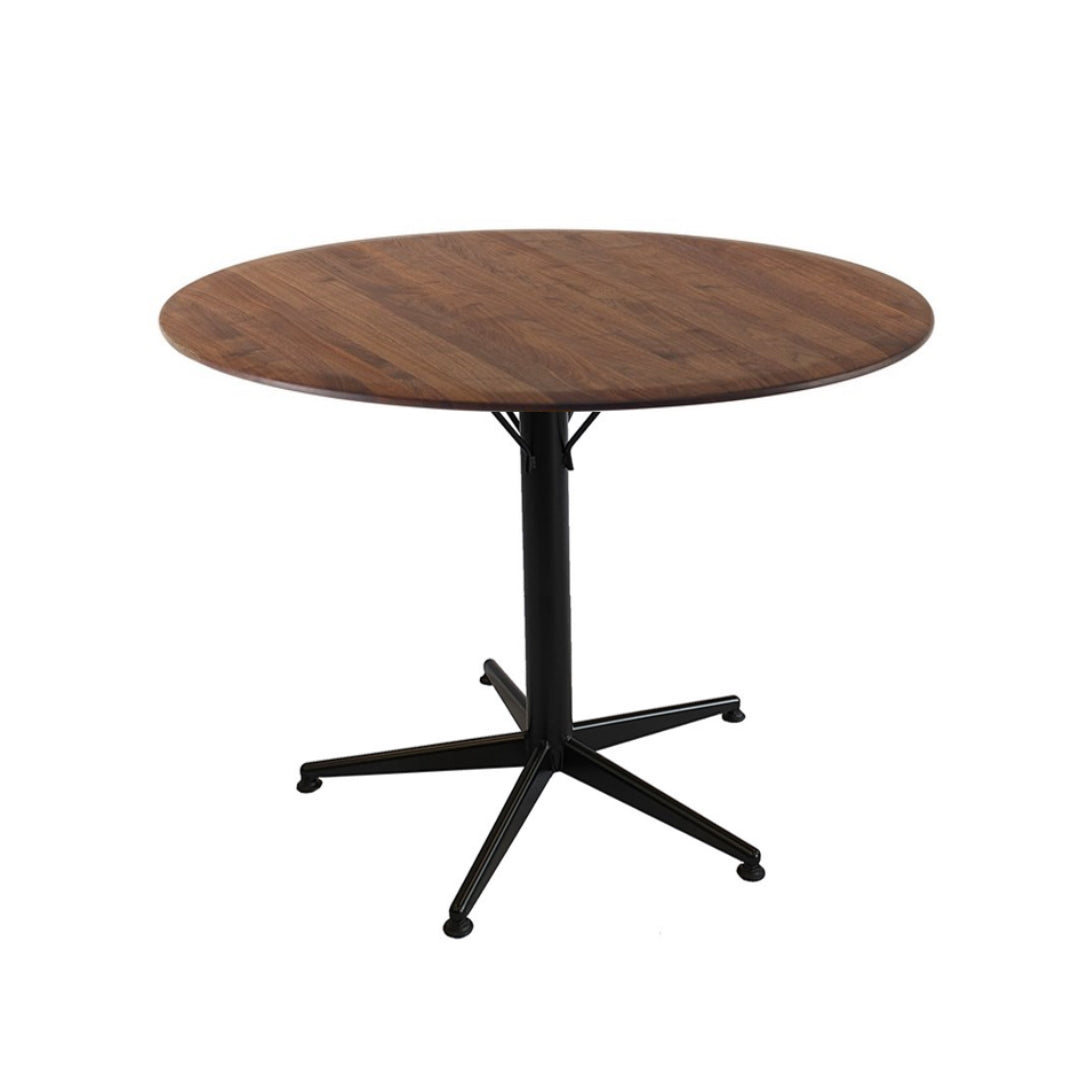 Dining Table With Black Metal Legs