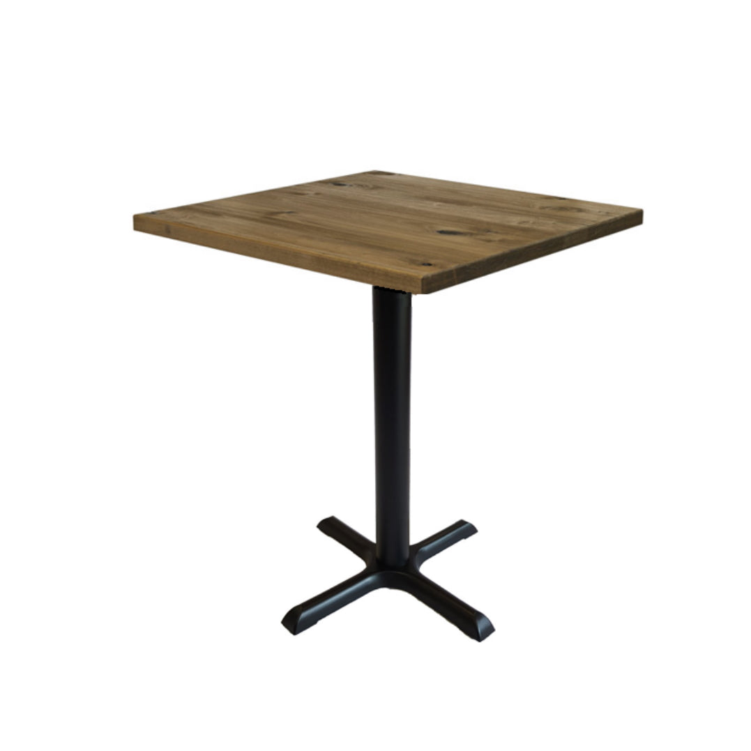 Cafe Table With Black Metal Legs