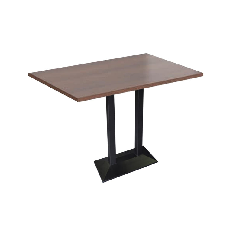 Cafe Table With Double Metal Legs