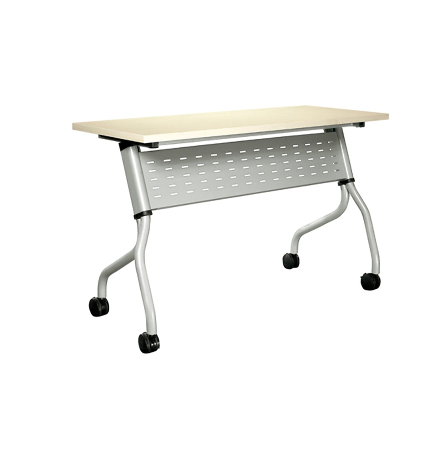 Foldable Training Table with Metal Modesty Panel