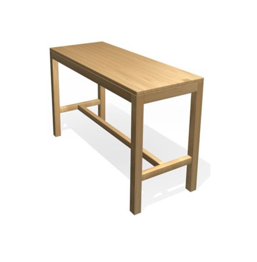 High Bar Table With Wooden Legs