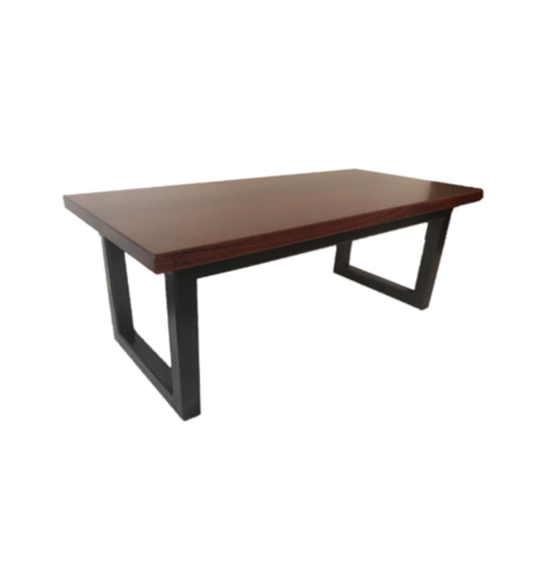 Jarrah Coffee Table with Metal Legs