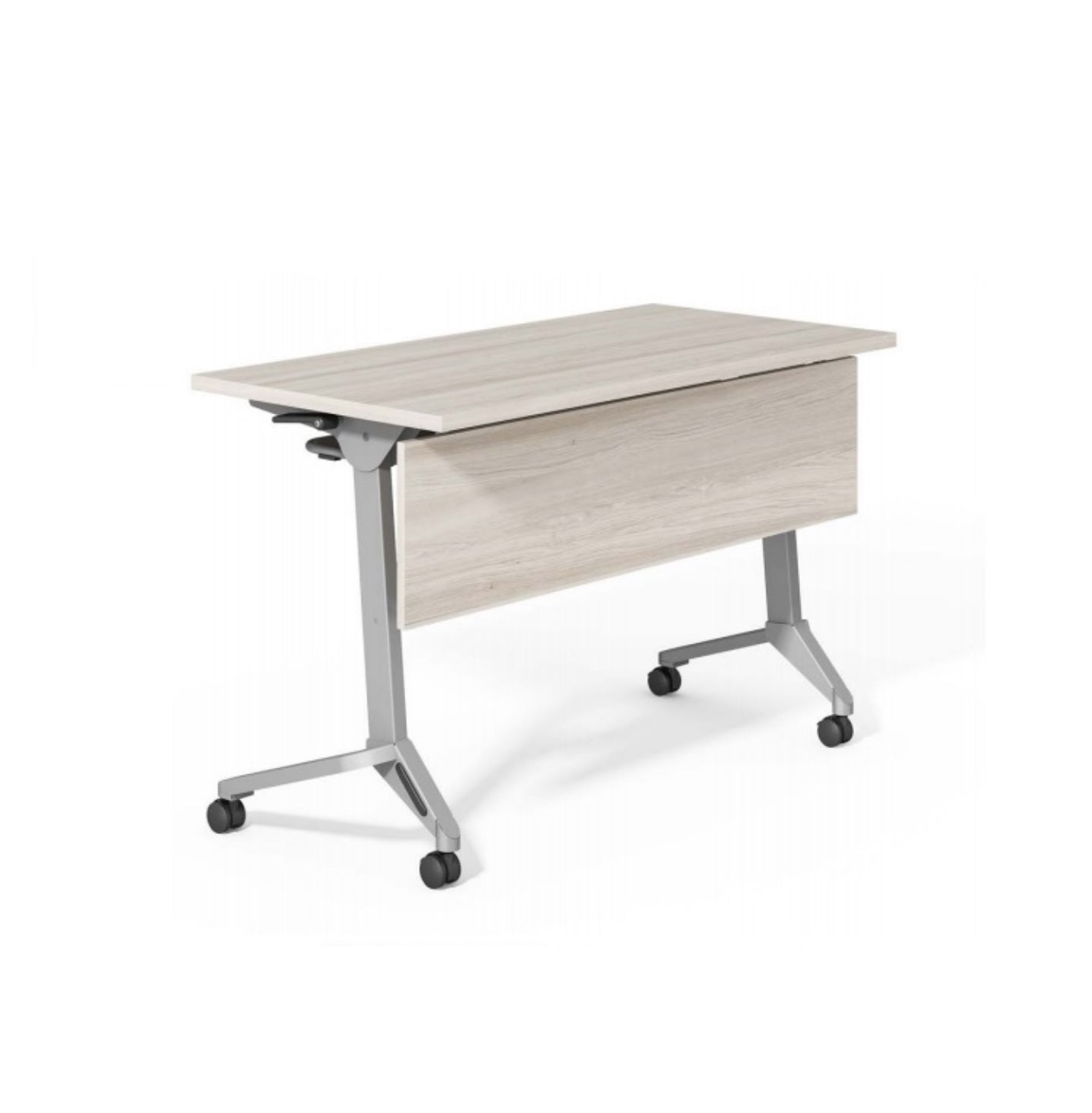 Foldable Training Table with Wooden Modesty Panel