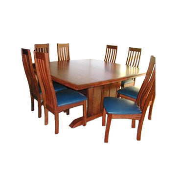 Leeuwin Jarrah Timber Square Dining Table (L150cm)