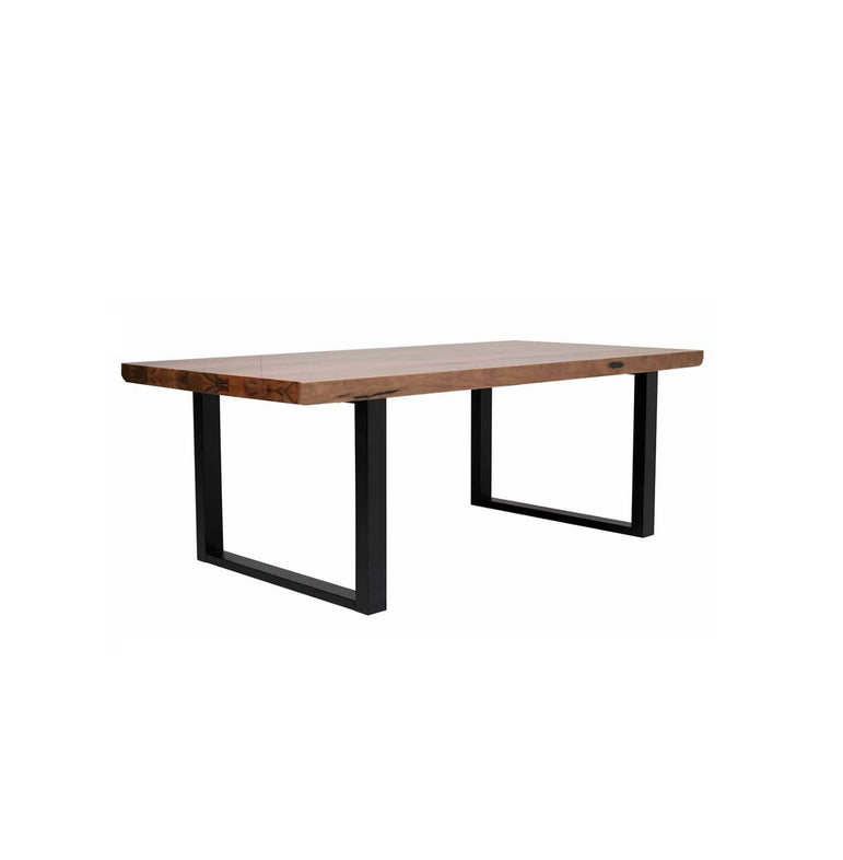 Marri Timber Dining Table with Metal Legs (L160cm)