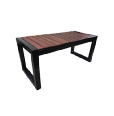 Jarrah Timber Backless Bench With Metal Leg