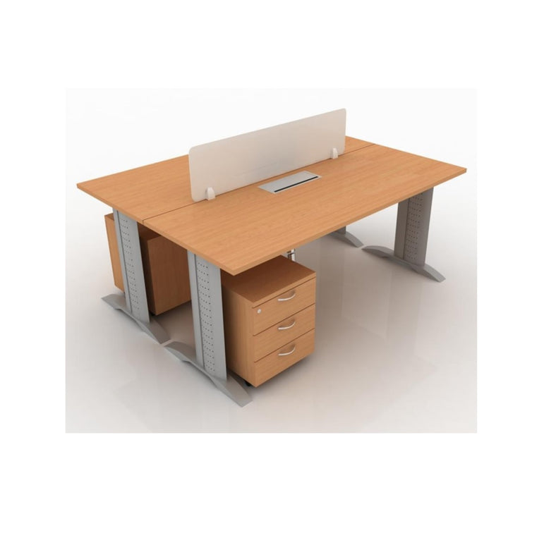 Office System Furniture – Cluster of 2 Workstations