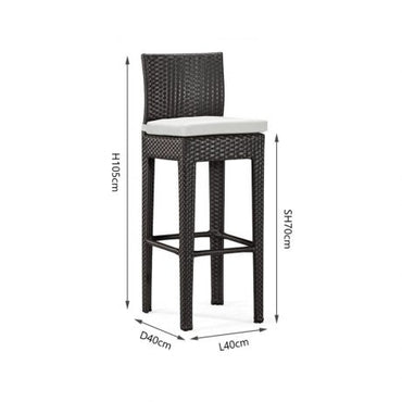 PE Rattan High Bar Chair