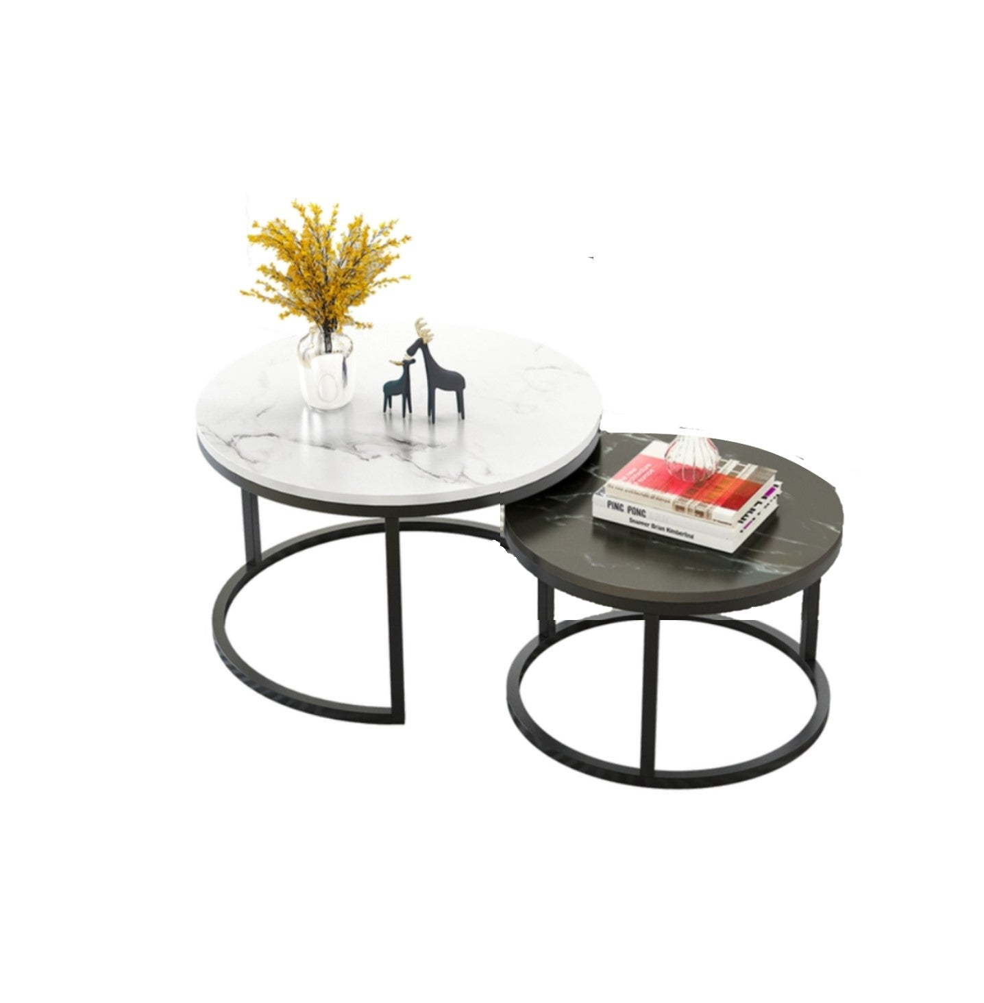Round Coffee Table – Nordic Style
