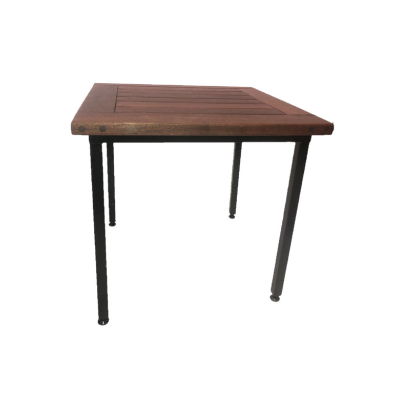Outdoor Side Table with Metal Base