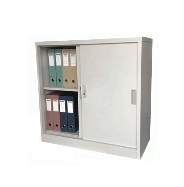 Low Metal Sliding Door Cabinet