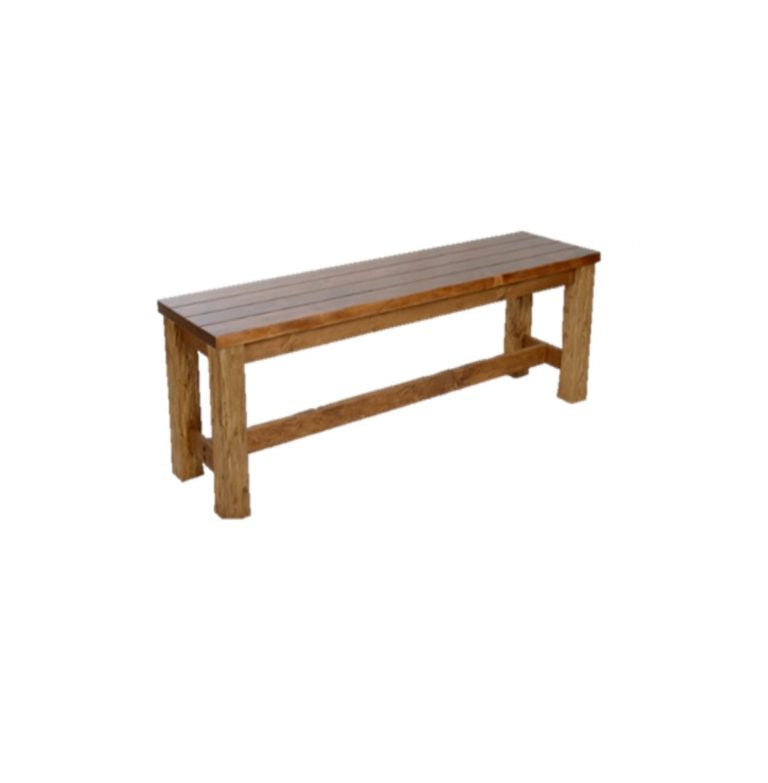 Solid Timber Backless Outdoor Bench