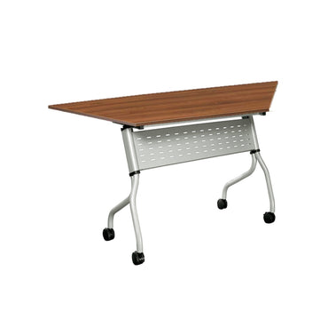 Foldable Training Table with Metal Modesty Panel – Trapezium shape