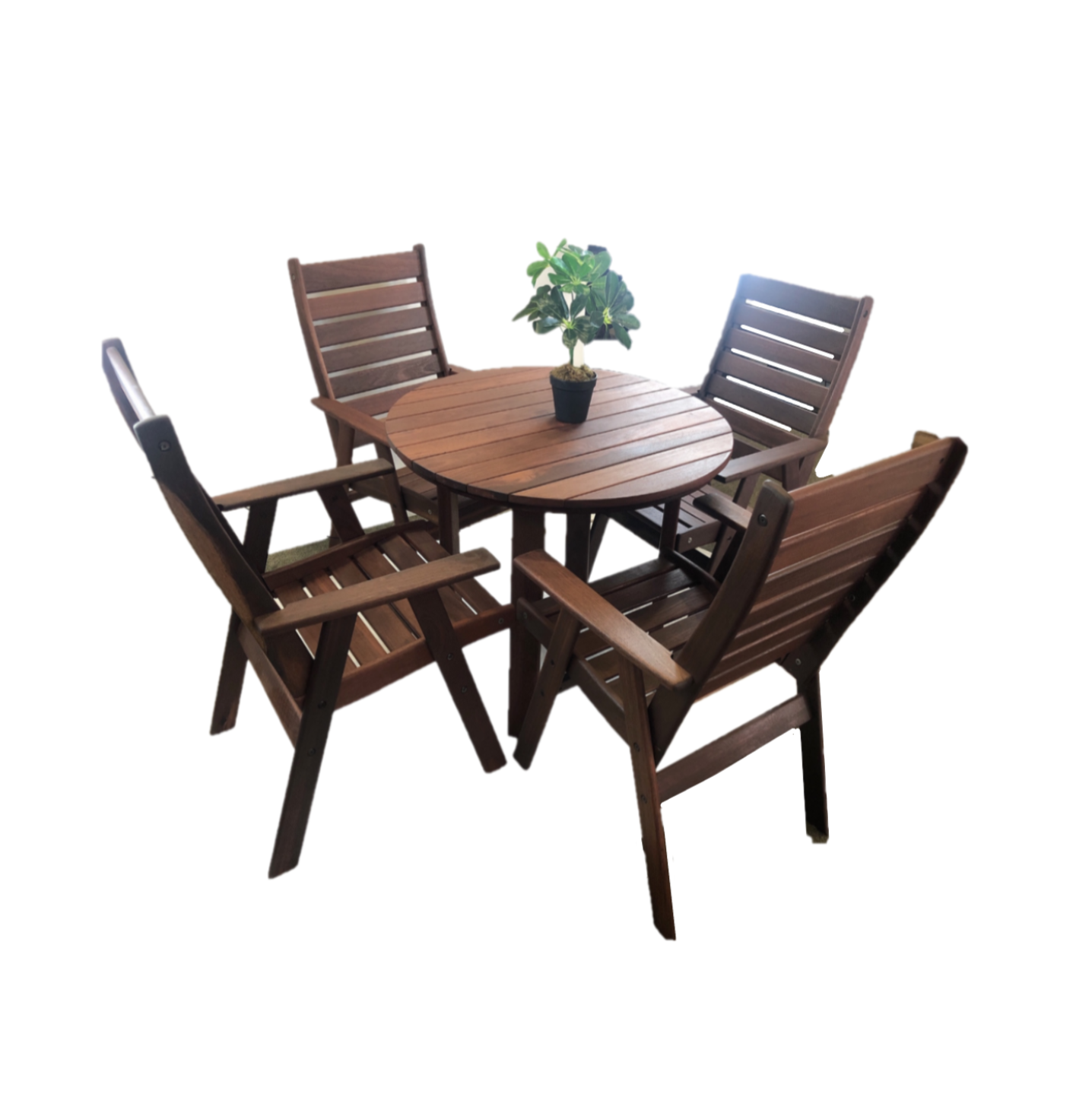 Argyle 90 Jarrah Round Outdoor Table (Dia90cm)