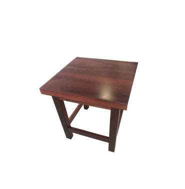 Jarrah Timber Side Table L46cm