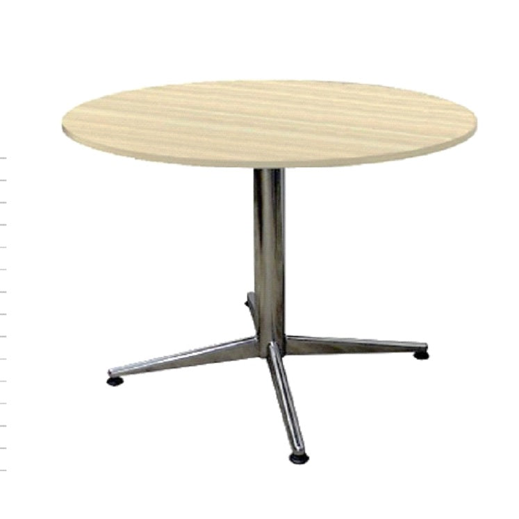 Round Discussion Table With Stainless Steel Metal Base