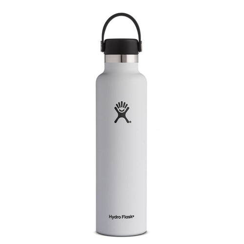 HYDRO FLASK Standard Mouth Bottle - Flex Cap  Double Insulated - White 709ml - My Perfect Box