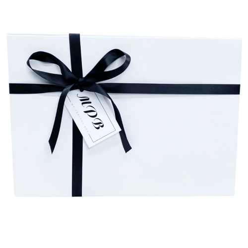 Luxury Gift Box White with Ribbon and Gift tag - My Perfect Box