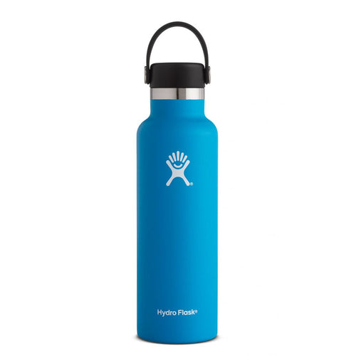 HYDRO FLASK Standard Mouth Bottle - Flex Cap Double Insulated - Pacific Blue 709ml - My Perfect Box