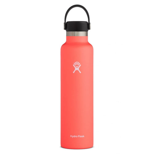HYDRO FLASK Standard Mouth Bottle - Flex Cap  Double Insulated - Hibiscus 709ml - My Perfect Box