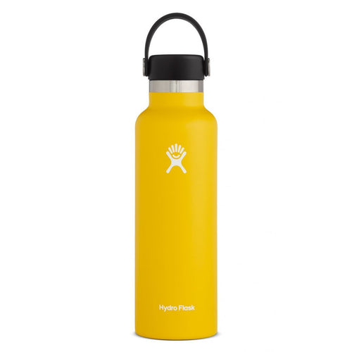 HYDRO FLASK Standard Mouth Bottle - Flex Cap Double Insulated - Sunflower 709ml - My Perfect Box