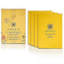 Load image into Gallery viewer, ORGAID Organic Sheet Mask  Vitamin C & Revitalizing 4x24ml - My Perfect Box