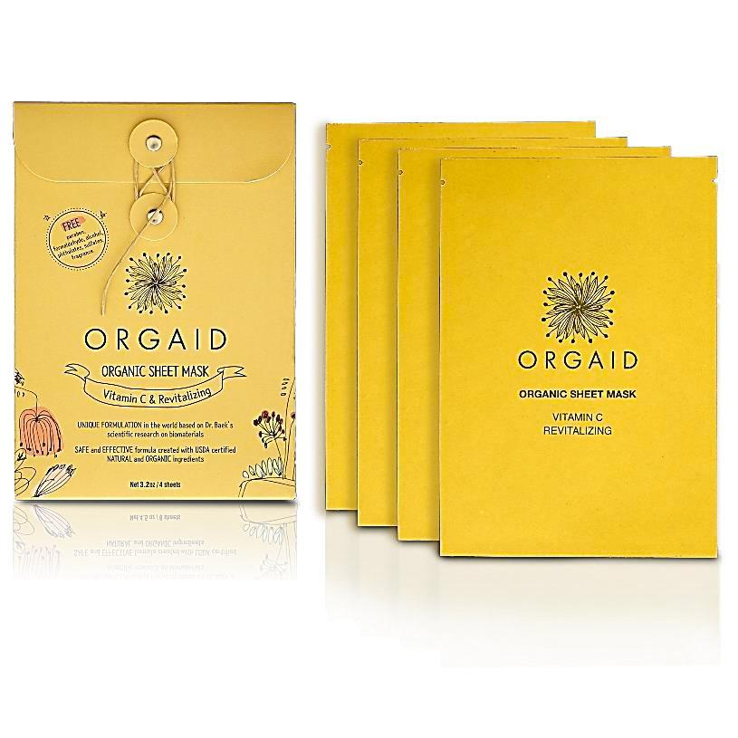 ORGAID Organic Sheet Mask  Vitamin C & Revitalizing 4x24ml - My Perfect Box