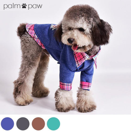 New York Graphic Mock Two-Piece Dog Jacket - Palm Paw