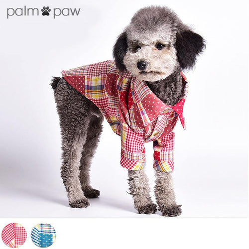 Patchwork Checked Dog Shirt - Palm Paw