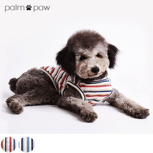 Breton Stripe Dog Tank Top - Palm Paw