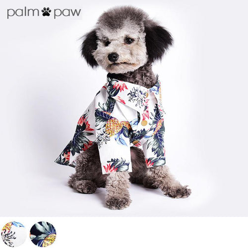 Pineapple Print Dog BBQ Shirt - Palm Paw