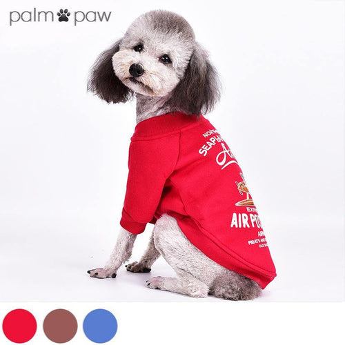 Vintage Seaplane Graphic Dog Jacket - Palm Paw