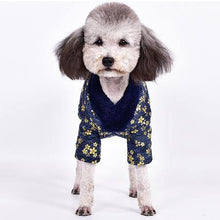 Load image into Gallery viewer, Padded Dog Kimono Coat - Palm Paw