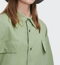 Load image into Gallery viewer, Oversized Cotton Overshirt Jacket - Palm Paw