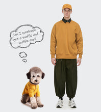 Load image into Gallery viewer, Matching Dog and Human Waffle-Knit T-shirt - Palm Paw
