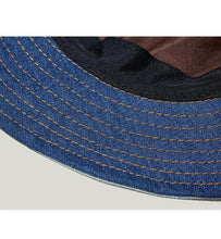 Load image into Gallery viewer, Patchwork Denim Bucket Hat - Palm Paw