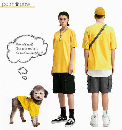 Matching Dog and Human Crew Neck Short-sleeve T-shirt - Palm Paw