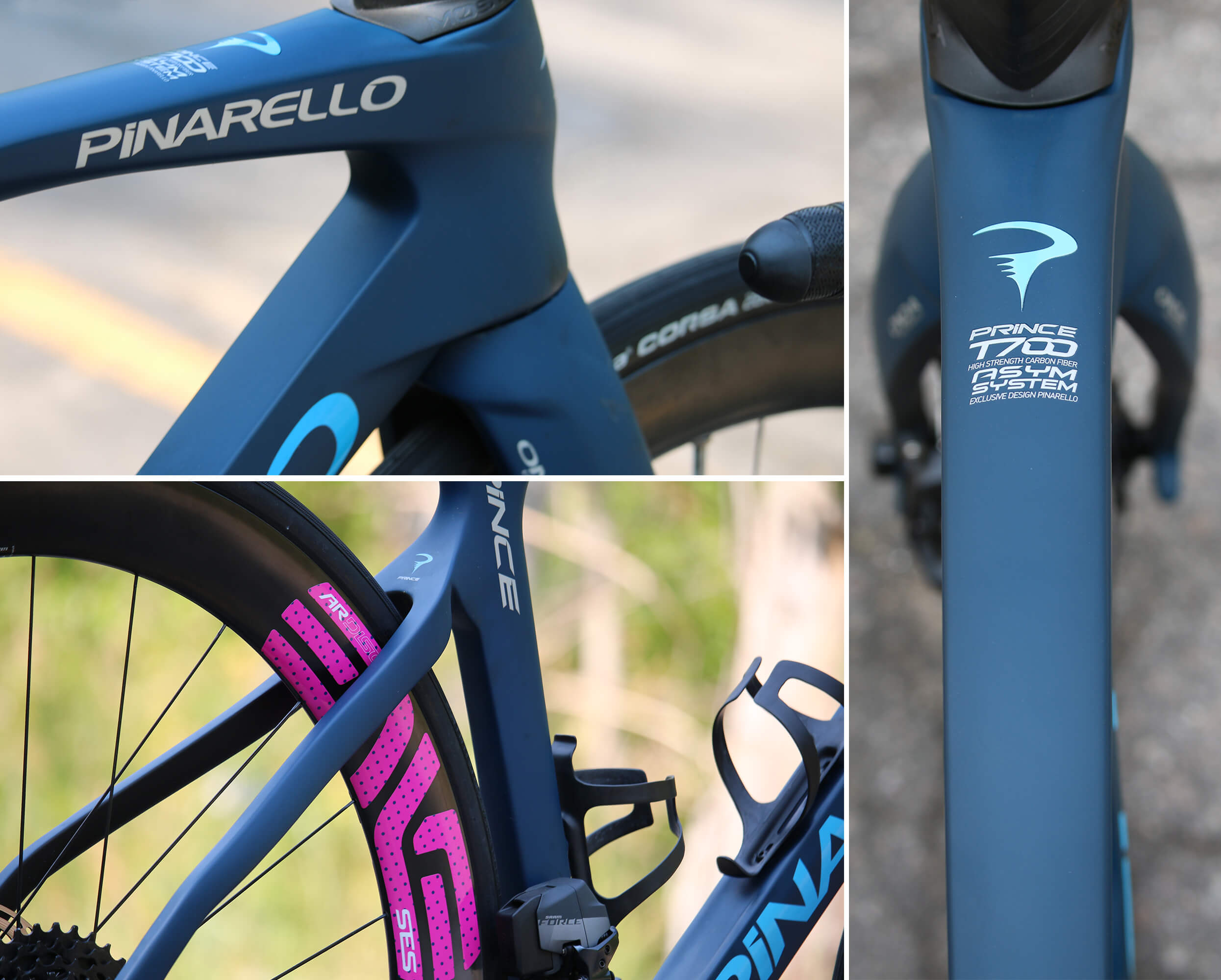 2021 Pinarello Prince Disc Steele Blue Details - Contender Bicycles