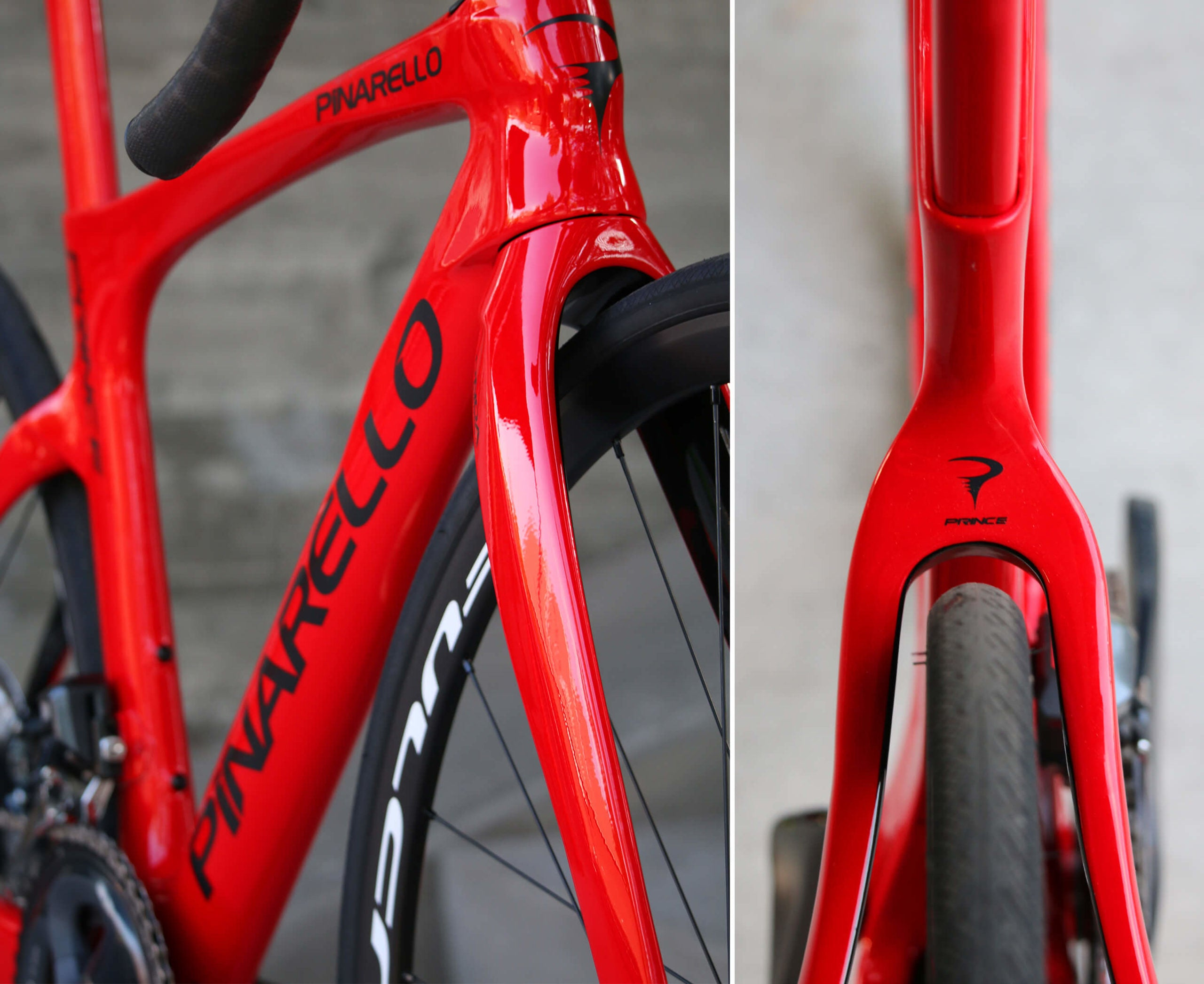 2021 Pinarello Prince Disc Red Details - Contender Bicycles