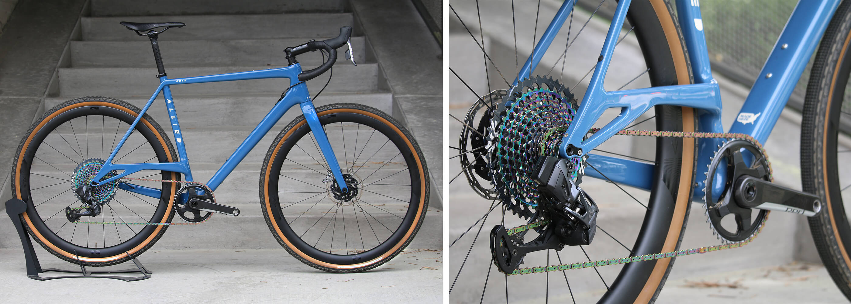 Allied Able Gravel Bike Contender Bicycles - SRAM Red AXS