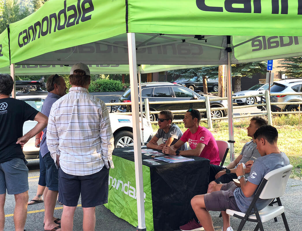 Cannondale Pro Team - Team Night, Contender Bicycles. Park City, Utah.